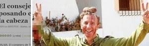 Foto de político com testículos de cervo vaza (Reprodução)
