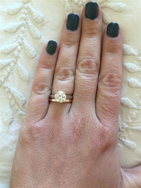 My Blue Nile rose gold wedding band arrived!   Weddingbee