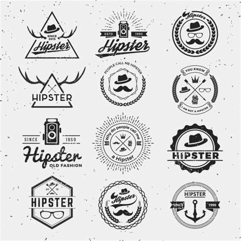 hipster vectors   psd files