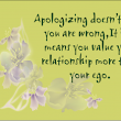 Quotes about Love Apologize