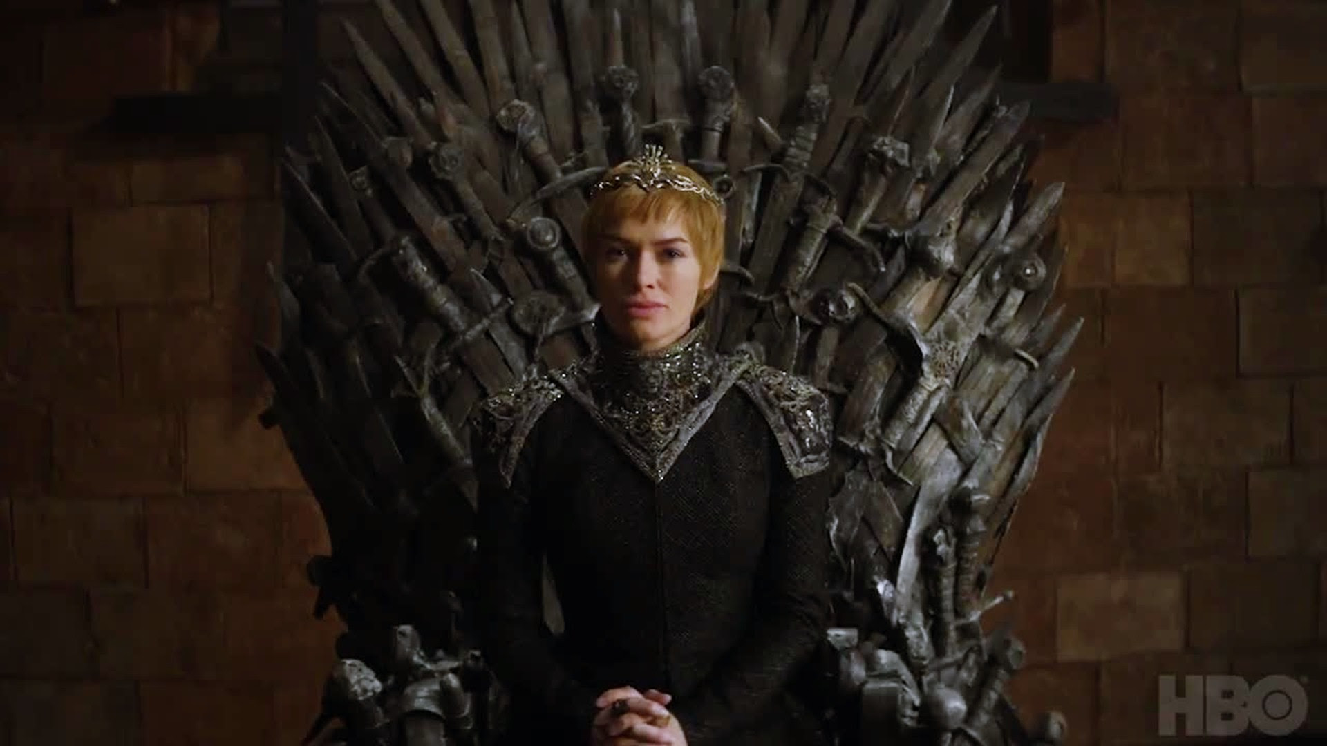 Cersei Lannister Game Of Thrones Season 7 Sitting On Throne