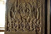 Salah satu relief di Angkor Wat, kamboja