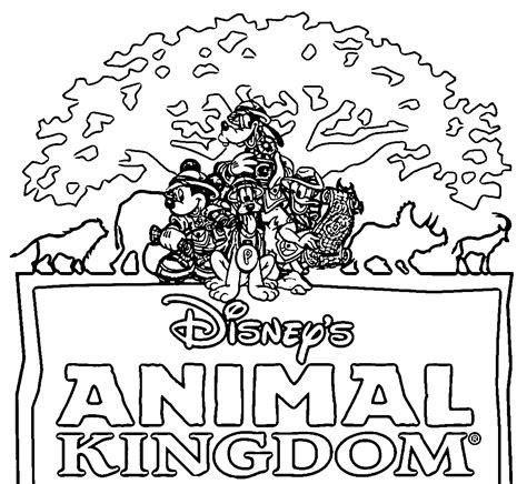 disney animal kingdom coloring pages coloring home