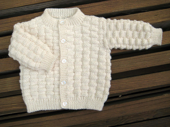 Knit Preemie Cardigan Sweater