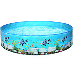 Nomeni 59inches Children's swimming pool Blow Up Pool for Family Kids Backyard Foldable