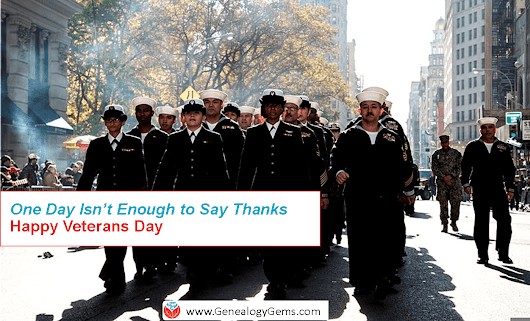 "It's Veterans Day: ""One Day is Not Enough"" To Say Thank You -"