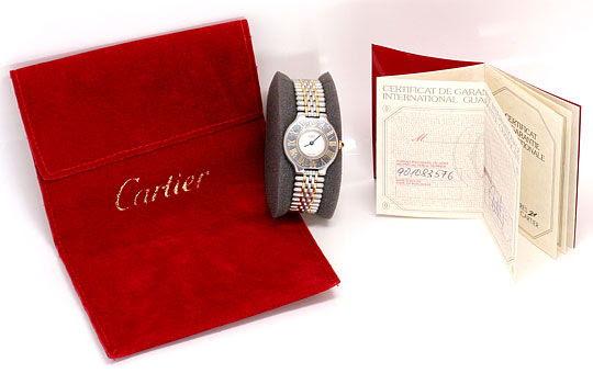 Foto 6, Cartier 21 Must.de Cartier Stahl-Gold Damen-Armband-Uhr, U1519