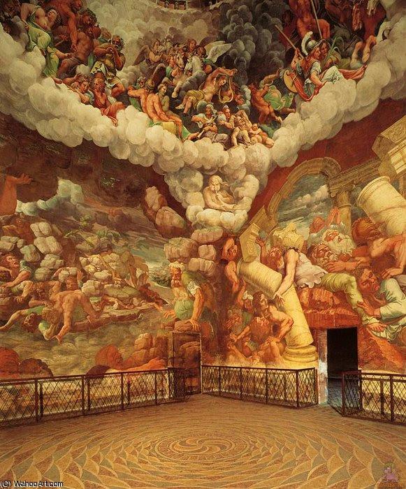 Sala dei Giganti por Romana de Andrea Mantegna (1431-1506, Italy)