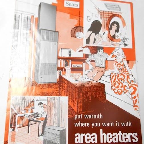 Vintage 1978 SEARS Sears Roebuck Area Heaters Space Heaters home improvement Brochure Advertising Book...