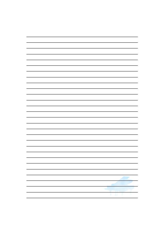 便箋空模様のピアノ 無料の雛形書式テンプレート書き方