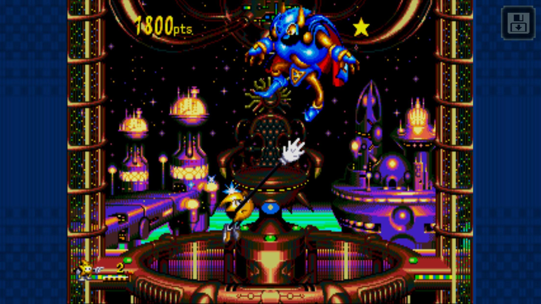 Ristar brightens up the Sega Forever line-up screenshot