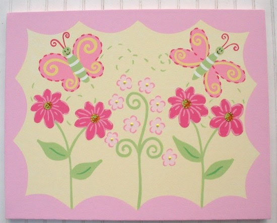 Items similar to Girls Nursery Bedroom decor art to coordinate