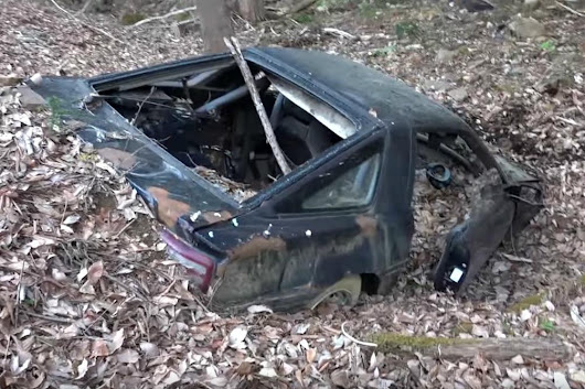 An abandoned Toyota Supra haunts the mountains of Japan