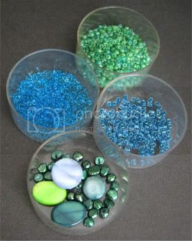 Blue and Green Ocean Beads