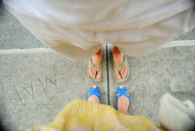 Kimchi Blue Leather Peep-Toe Skimmer_Urban Outfitters Flats