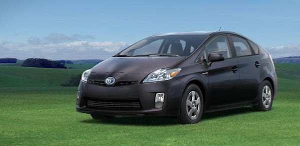 stock photo, gray metallic Prius