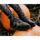 A9509L Black TUKskin Studded Pointed Ballet Creeper