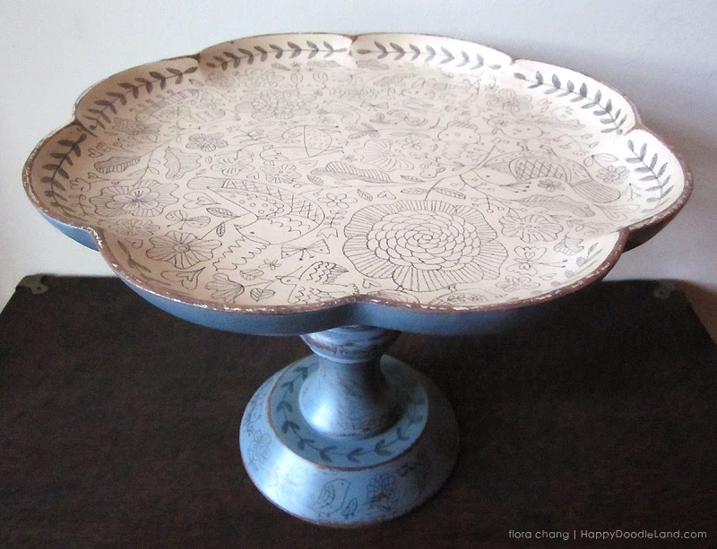 Big Wooden Cake Stand