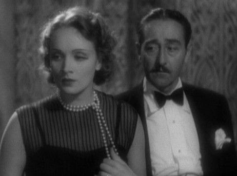 Marlene Dietrich and Adolphe Menjou in Morocco