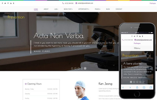 Prevention a Medical Flat Bootstrap Responsive Web Template