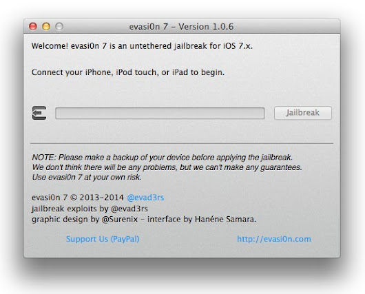 Evasi0n7 1.0.6 Now Available for Download