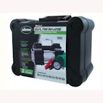 Slime 40026 Tire Inflator, 12 Volt, 22' Cord, With Twin Cylinders, Led Light, From Flat To Full In 2 Minutes