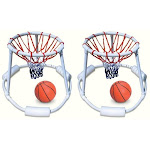 2) Swimline 9162 Swimming Pool Quality Floating Super Hoops Fun Basketball Games by VM Express