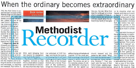 Methodist Recorder is 'enthralled and inspired' by Rob Cotton's book - Onwards and Upwards Publishers