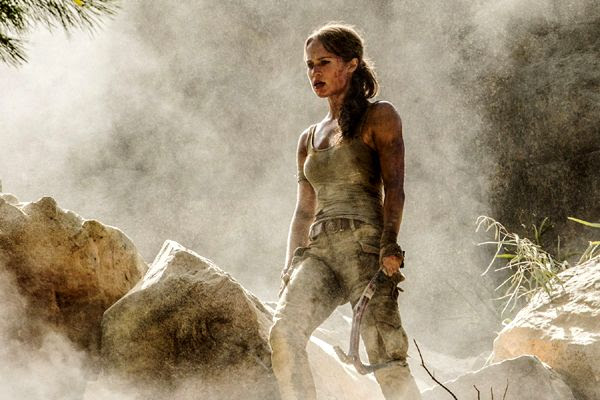 Alicia Vikander as Lara Croft in 2018's TOMB RAIDER.