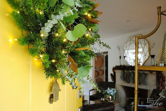 Give a natural look to an artificial wreath