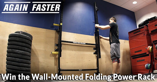 Enter for a chance to win 1 of 3 Again Faster Wall-Mounted Folding Power Racks