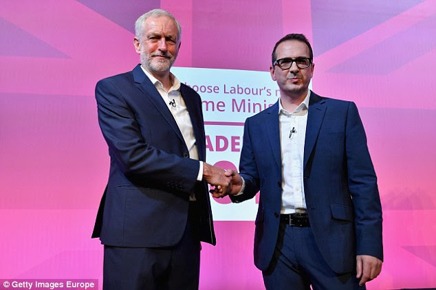 Catherine Starr said she felt she was a victim of the National Executive Committee's 'over-zealous vetting procedure designed to bar supporters of Jeremy Corbyn (pictured with leadership challenger Owen Smith last night)