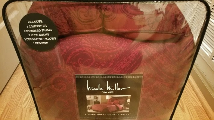 9 Piece Nicole Miller Queen Comforter Brand New In Package Home