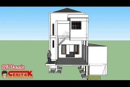 Desain Rumah Panjang, 5 Kamar Tidur, 5 Wc, dan Kolam Renang