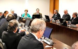 dilma com dirigentes dos clubes (Foto: Roberto Stuckert Filho / PR)