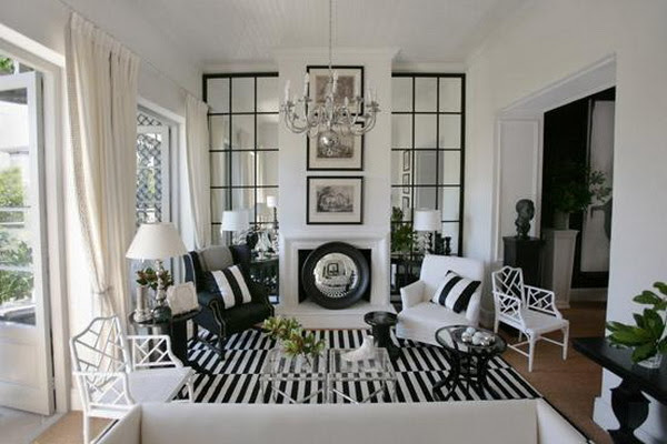 21 Black And White Traditional Living Rooms | DigsDigs