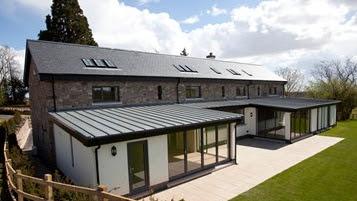 Brick Slips Installation Zinc Flat Roof Construction