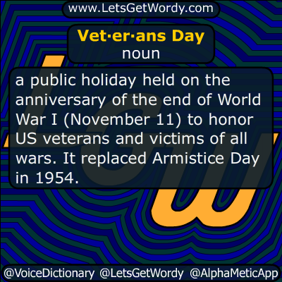 Veterans Day 11/11/2015 GFX Definition