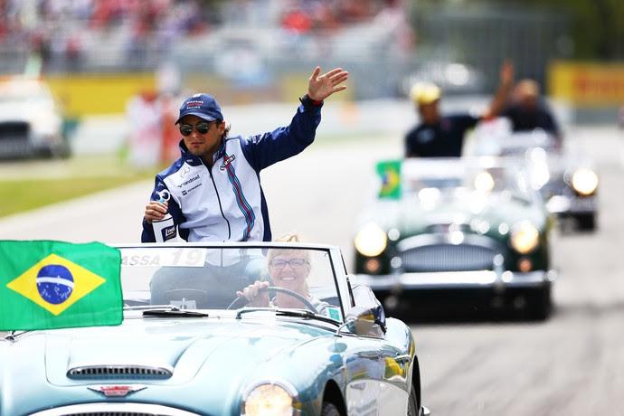 Felipe Massa no GP do Brasil de 2015 (Foto: Getty Images)