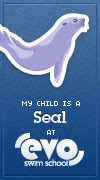 My child is a seal at EVO Swim School