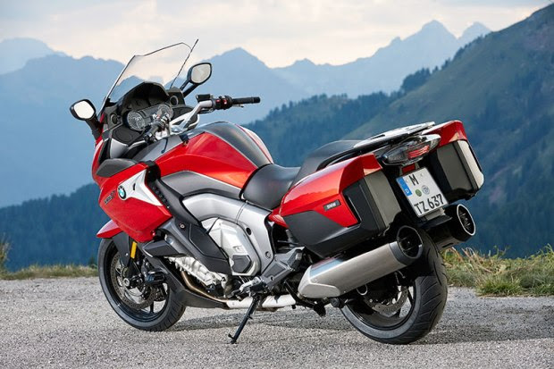 The 2017 BMW K 1600 GT has new side trim and larger wind deflectors.