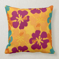 Aloha Flowers - Pillow throwpillow