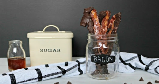 Easy Maple-Candied Chocolate Bacon Recipe! - Whispered Inspirations