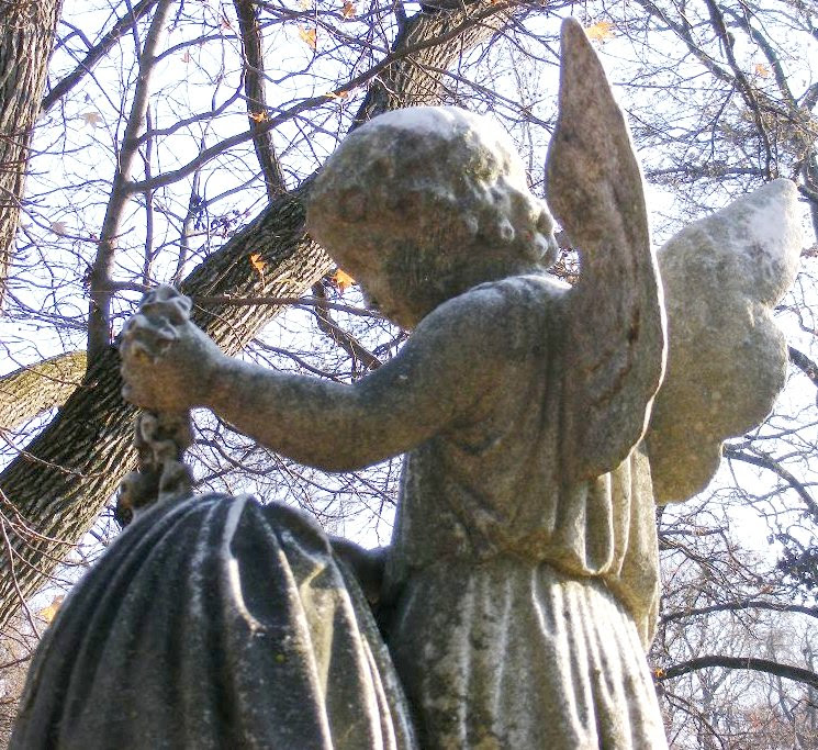 Angel and Flower Garland