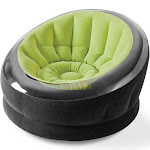 Intex Empire Inflatable Blow Up Lounge Dorm Camping Chair for Adults, Lime Green by VM Express