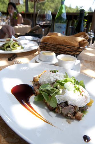 Duck Confit Hash, Poached Farm Eggs, Yukon Gold Potatoes, Auberge du Soleil, Napa