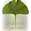 Nature font - Forest font - An Earth Day font - from the David Occhino Typeface Collection
