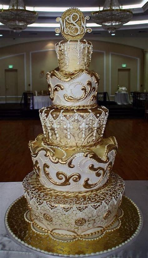 Ivory Wedding   Gold Cake #2052963   Weddbook