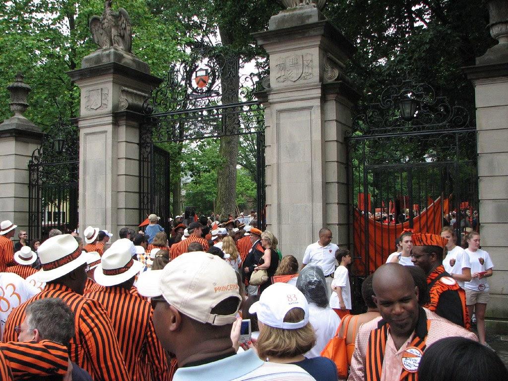 The Class of 1983 walks through FitzRandolph Gate