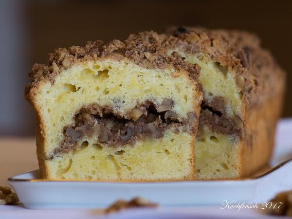 Kochfrosch sauerrahmkuchen mit zimt nussstreuseln und for Kuchen reduziert